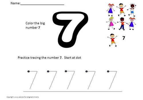 Preschool Printable Worksheets For Numbers