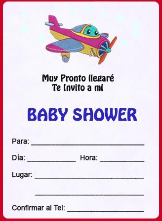 Tarjetas de Baby Shower – Aviones
