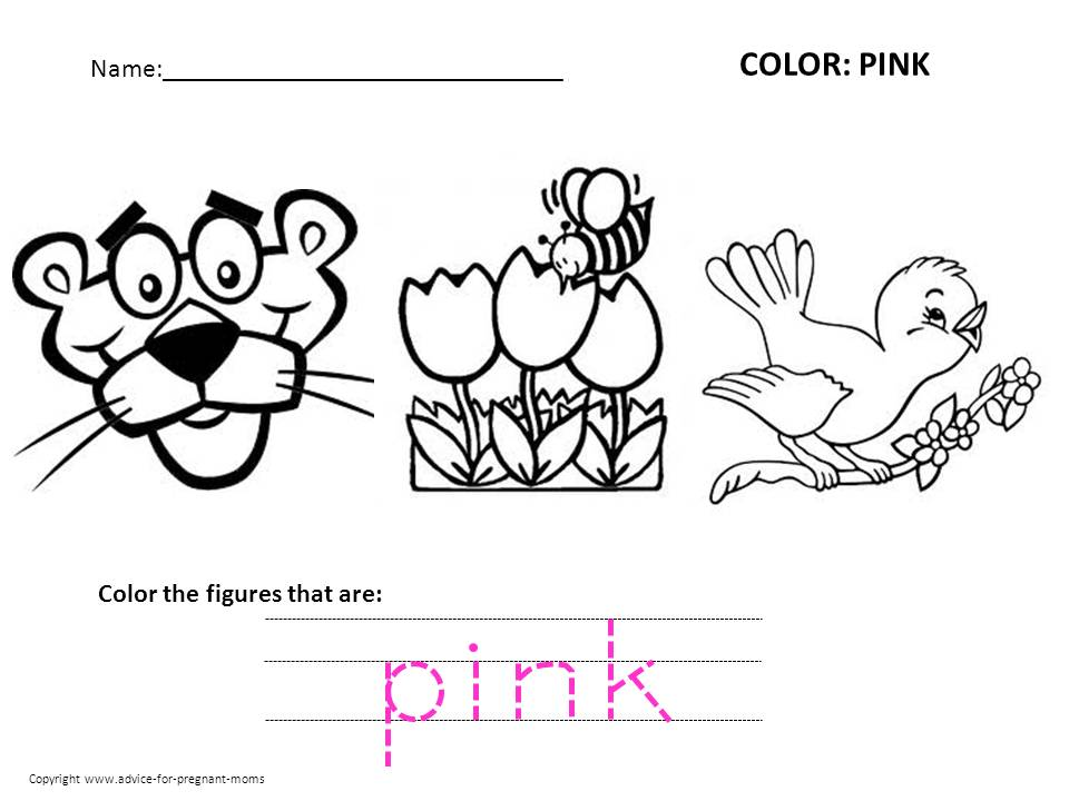 free preschool worksheets for learning colors advice for pregnant moms. Black Bedroom Furniture Sets. Home Design Ideas