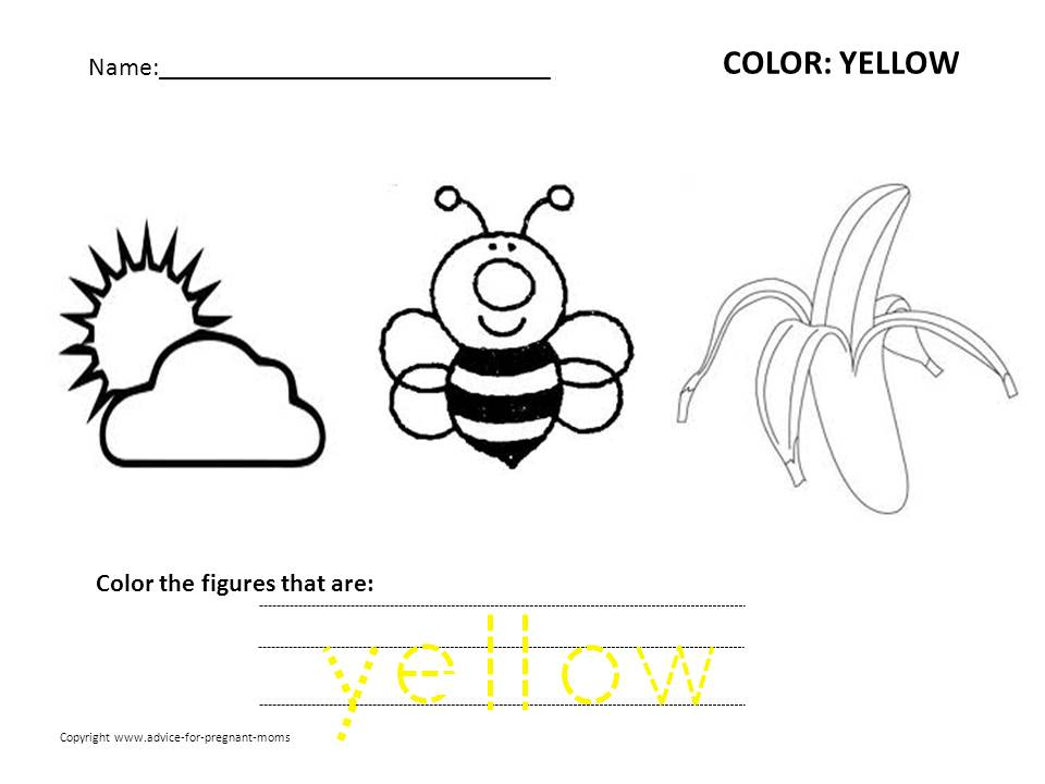 Preschool color worksheets free