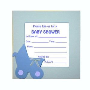 Homemade Baby Shower Invitations