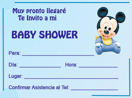 Tarjetas para Baby Shower – Disney