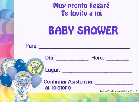 Baby Shower Invitaciones de Ositos Teddy