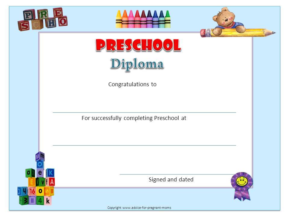 Preschool Diplomas