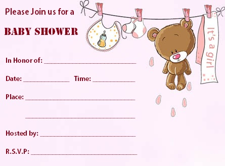 Baby Shower Invitation Templates Advice For Pregnant Moms