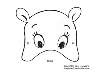 Printable Mask Templates - Tasha