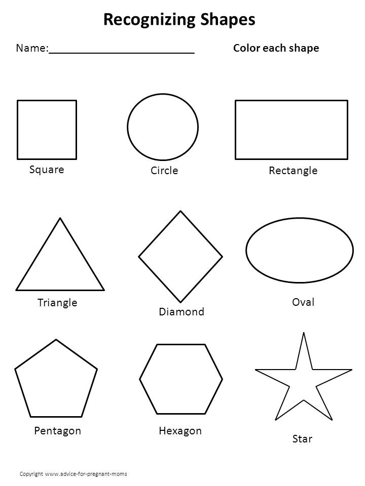 Free Worksheets For Preschool - Shapes